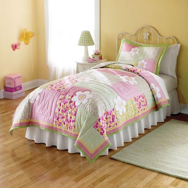 Julia Applique Embellished 3-piece Quilt Set