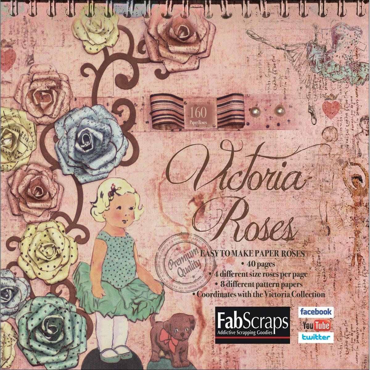 Victoria Paper Flowers Die-Cut Pad-Makes 160 Paper Flowers