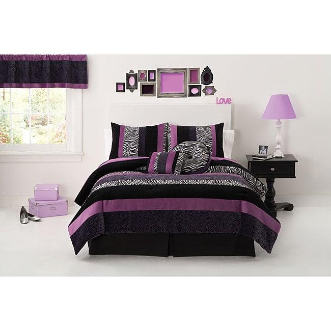 Posh Purple 3-piece Comforter Set