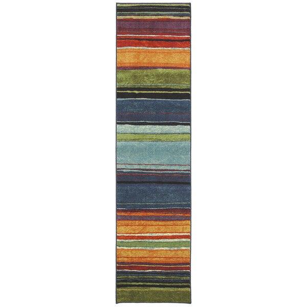 Rainbow Multi Stripe Rug (2' x 8')