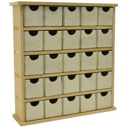 Beyond The Page MDF Mini Treasure Chest/25 Chip Drawers-2.25