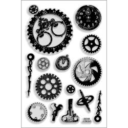 """Stampendous Perfectly Clear Stamps 4""""X6"""" Sheet-Steampunk Gears"""
