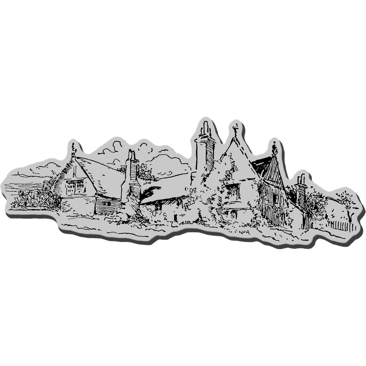 Stampendous Cling Rubber Stamp-Country Manor