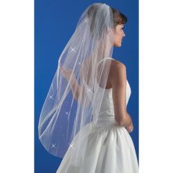 """Wedding Veil 38""""-Rhinestone"""