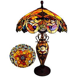 Victorian Two Light Table Lamp