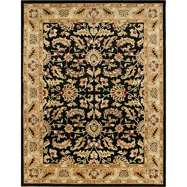 Alliyah Handmade Black New Zealand Blend Wool Ru (8' x 10')