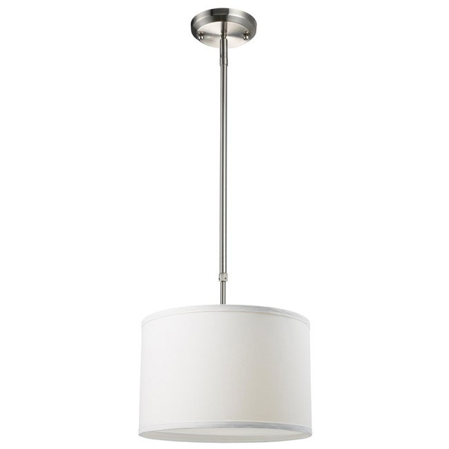 Contemporary Albion One-Light Nickel Pendant