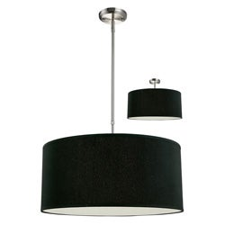Albion Black Drum Shade 24-inch Lighting Fixture