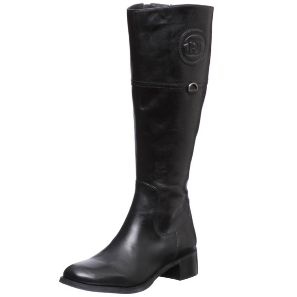 etienne aigner chastity black leather boots