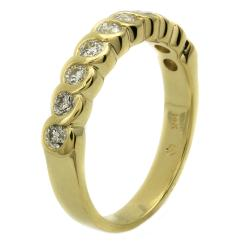 "Beverly Hills Charm 14k Yellow Gold 1/2ct TDW ""S"" Swirl Diamond Ring (H-I, I1)"