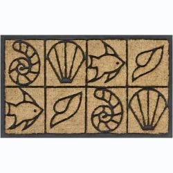 """Creative Coir/Rubber Indoor/Outdoor Door Mats (1'5"""" x 2'5"""") (Set of 2)"""