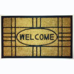"""Creative Coir/Rubber Contemporary Door Mats (1'5"""" x 2'5"""") (Set of 2)"""