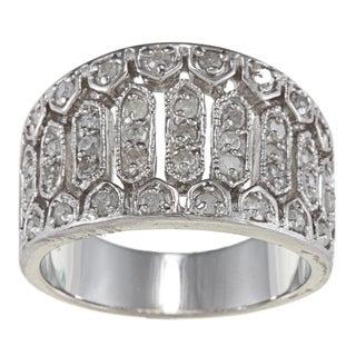 Sterling Silver 3/4ct TDW Diamond Vintage Ring (G-H, I2)