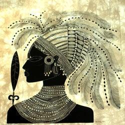 'Suk Dancer' Heidi Lange Screen Print (Kenya)