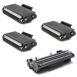 Brother TN580 Compatible Black Toner Cartridges and 1 DR510 Drum Units (Pack of 4)