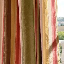 Signature Stripe Mirage Faux Silk Taffeta Curtain Panel