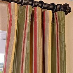 EFF Signature Stripe Mirage Faux Silk Taffeta Curtain Panel