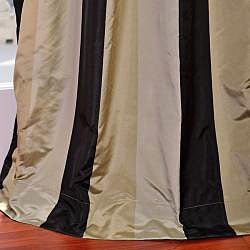 Signature Stripe Sake Faux Silk Taffeta Curtain Panel