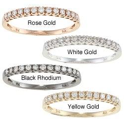 14k Gold 1/5ct TDW Round-cut White Diamond Band (I-J, I1-I2)