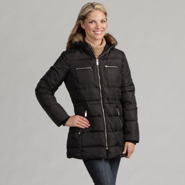 Anne Klein Women's Black Faux-fur Jacket