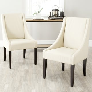 Safavieh Sloping Arm Chair Cream Dining Chairs (Set of 2)