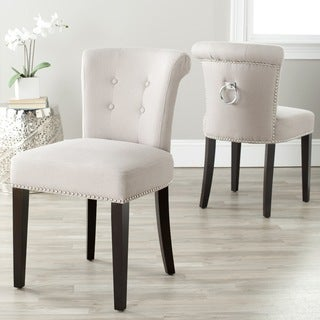 Safavieh Carrie Wheat Linen Side Chairs (Set of 2)