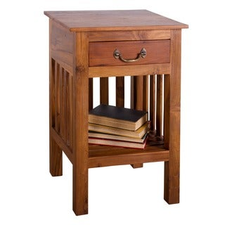Mission Reclaimed Teak Single Drawer Nightstand (India)