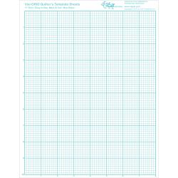 """Visi-GRID Quilter's Template Sheets-8-1/2""""X11"""" 4/Pkg"""