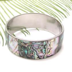 Green Shadows Genuine Abalone Link Bracelet (Philippines)