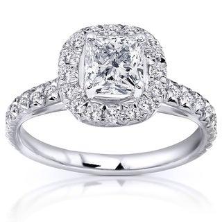 Annello  14k White Gold 1 2/5ct TDW Diamond Engagement Ring (H-I, I1-I2)