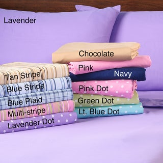 Expressions Easy Care Printed Microfiber Sheet Set | Overstock.