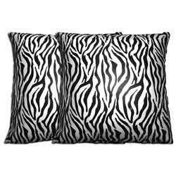 Decorative Zebra Pillows (Set of 2)