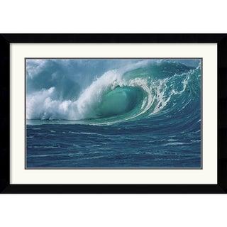 Mike Kelly 'Waimea Bay' Framed Art