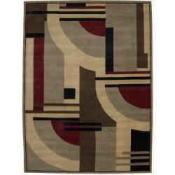Nourison Casual Hand-Tufted Dimensions Multicolor Rug (8' x 11')