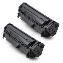 HP CB436A Compatible Black Toner Cartridges (Set of 2)