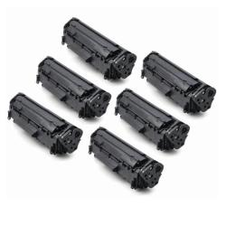 HP CB435A Compatible BlackToner Cartridges (Pack of 6)