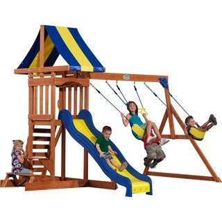 Backyard Discovery Providence Cedar Swingset with Sandbox