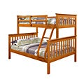 Donco Kids Mission Twin / Full Bunk Bed in Honey