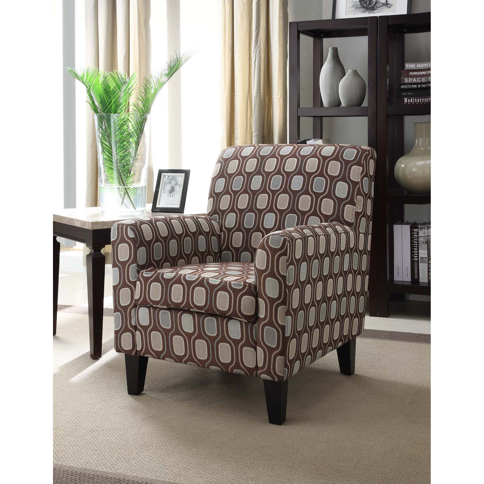 Overstock Living Room Chairs : Cream Circle Fabric Design Club Chair - Overstock ...