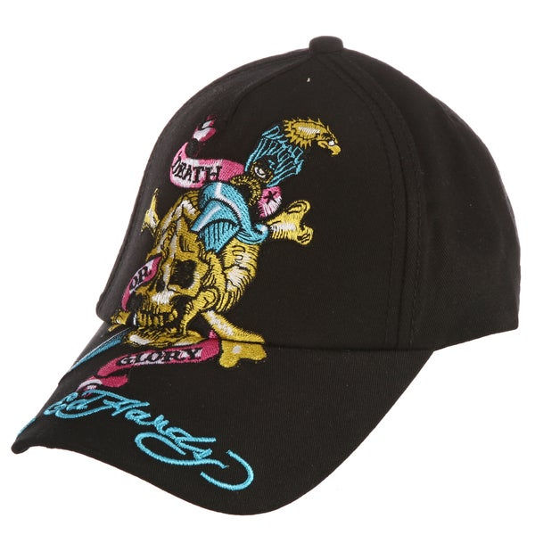 Ed Hardy Boys' 'Skull and Eagle' Embroidered Hat
