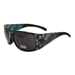 Women's Aqua Blue Paisley Fashion Sunglasses