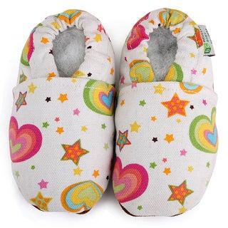 Rainbow Hearts Baby Soft Sole Canvas Shoe