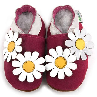Double Daisy Soft Sole Leather Baby Shoes
