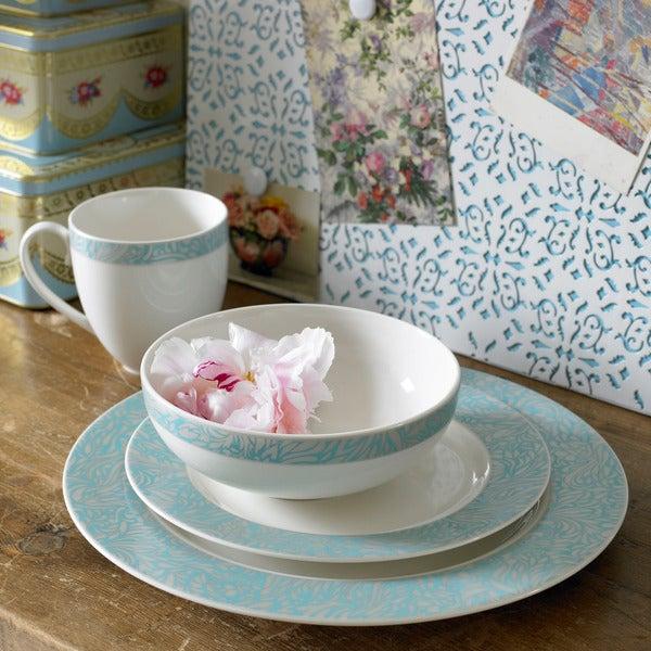 Denby Monsoon Lucille Teal 16-piece Dinnerware Set