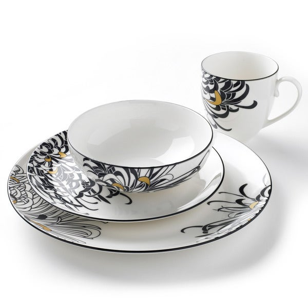 Denby Monsoon Chrysanthemum 16-piece Dinnerware Set