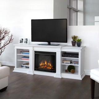Real Flame White Fresno Electric Fireplace