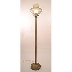 Hurricane With Rhombus Green Glass Floor Lamp