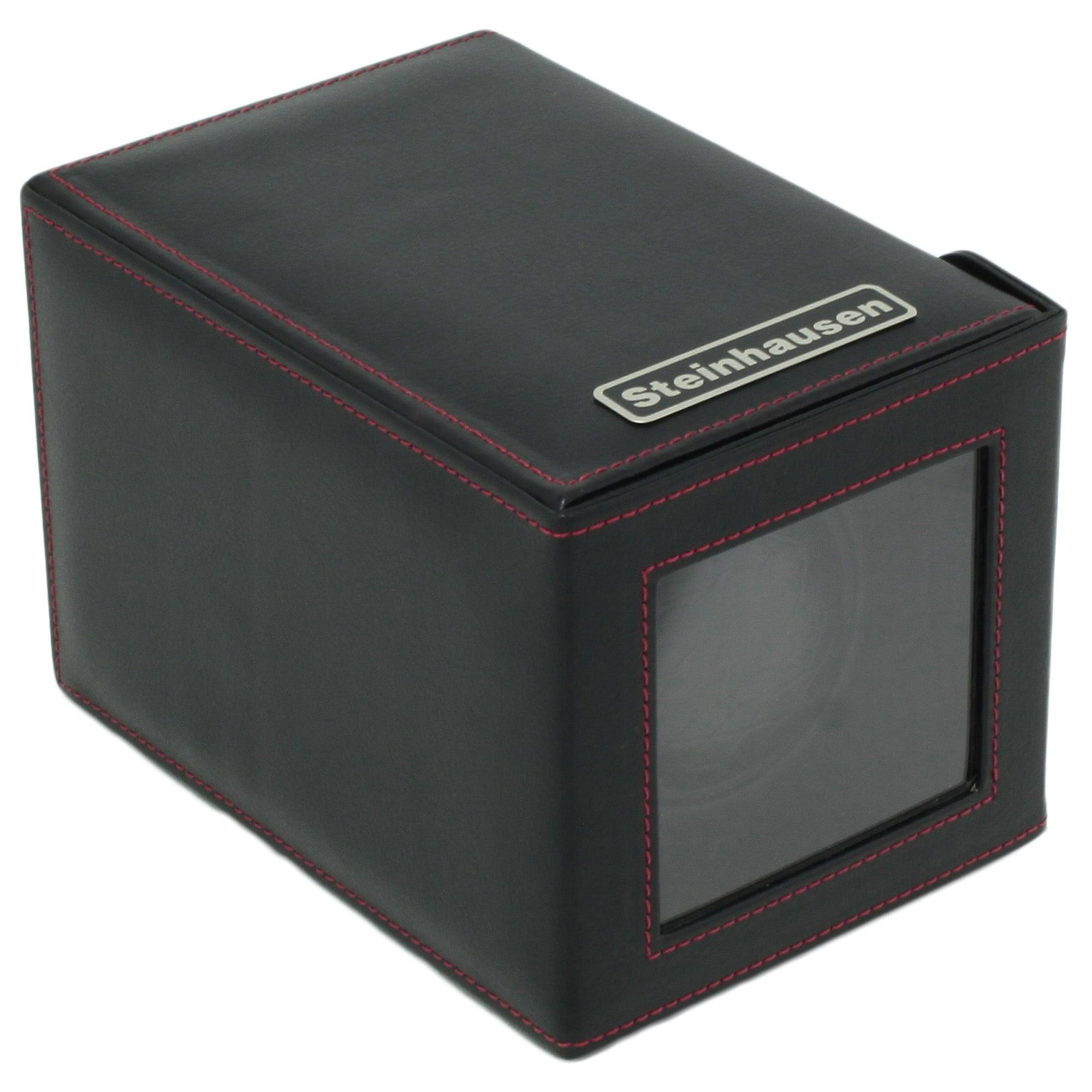 Steinhausen 12-mode Single Black Polyurethane Leather Watch Winder
