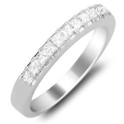 14k White Gold Women's 1ct TDW Diamond Wedding Band (G-H, SI2)