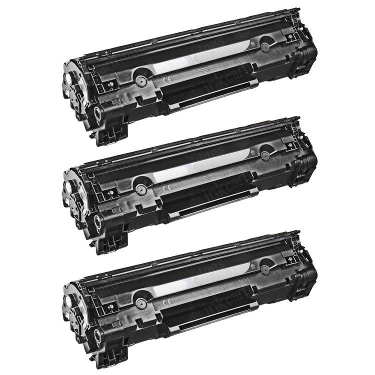 HP CE278A Black Toner Cartridge (Pack of 3) (Remanufactured)